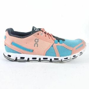 On Cloud Womens Athletic Shoes Pink Blue